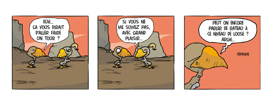 Faire un tour - les pingouins sont parmi nous, strips raliss par Bernard Hazal-Massieux